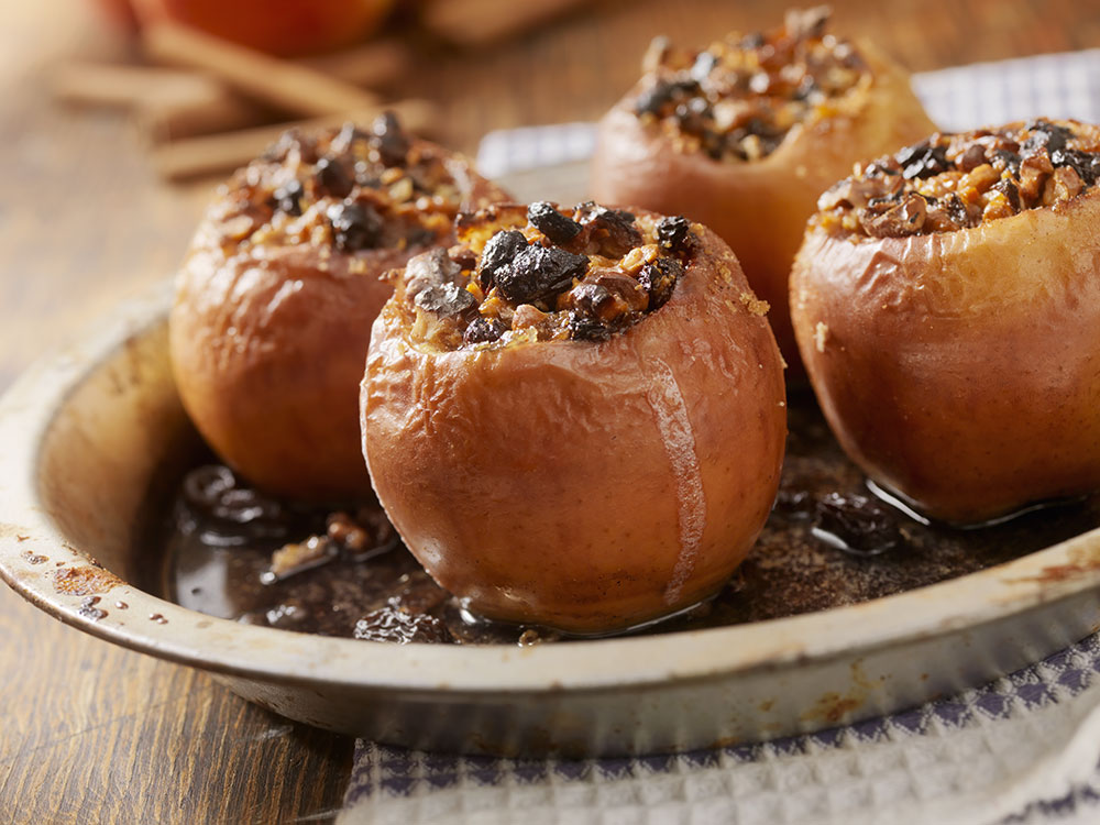 Balsamic Glazed Poached Apples