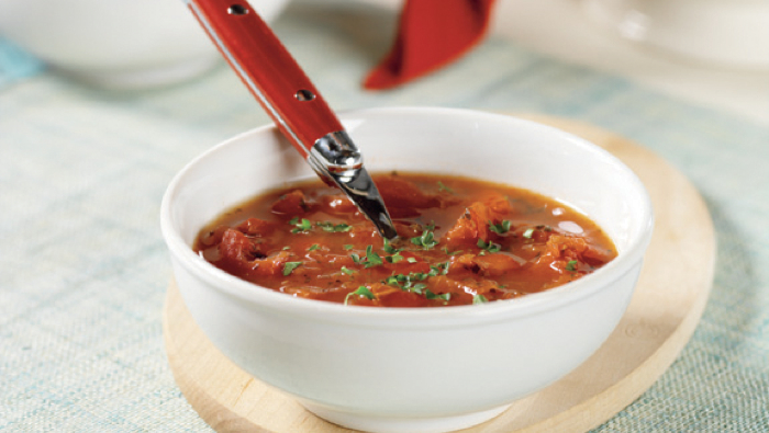 Tomato and Roasted Red Bell Pepper Soup
