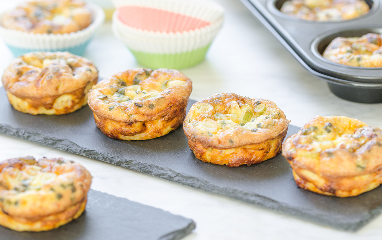Egg White and Veggie Muffin Cups