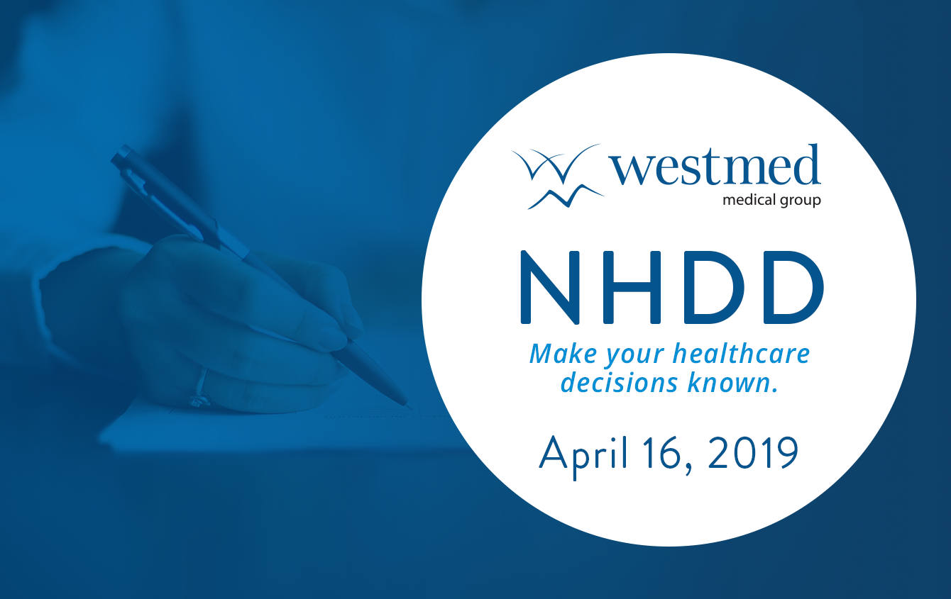 Tuesday, April 16 is National Healthcare Decisions Day